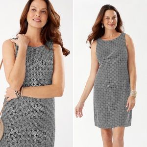 Tommy Bahama Geo Breeze Drapey Ponte  Dress